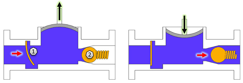 Check Valve Examples in a Diaphragm Pump