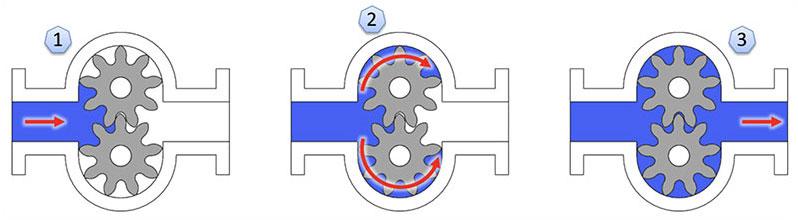 DPP External Gear Pump Cycle