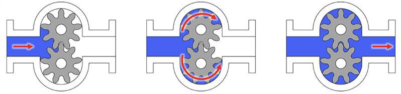 DPP Diagram of external gear pump