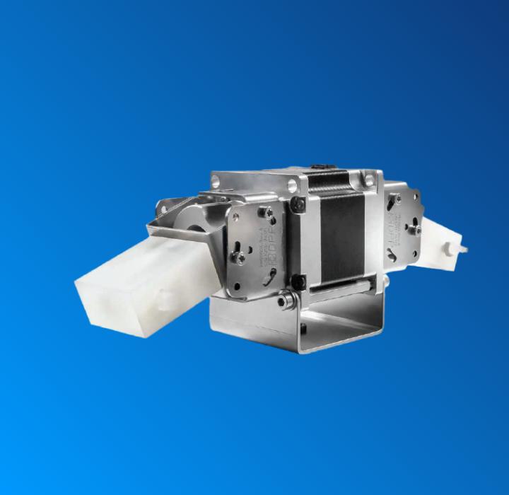 Precision dual piston mixing pump
