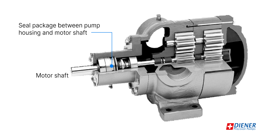 Direct drive gear pump with life-limiting seal